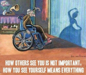 Como os outros te vêem não importa. Como você se vê é tudo.